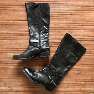 Franco Sarto • Leather Zip-up Riding Boots